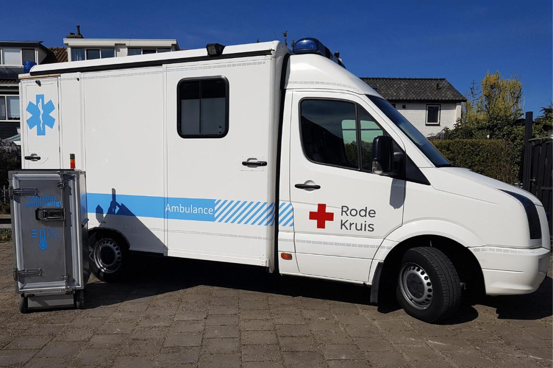 Het Rode Kruis kan met de schenking van de mobiele VebaBox haar logistieke processen optimaliseren