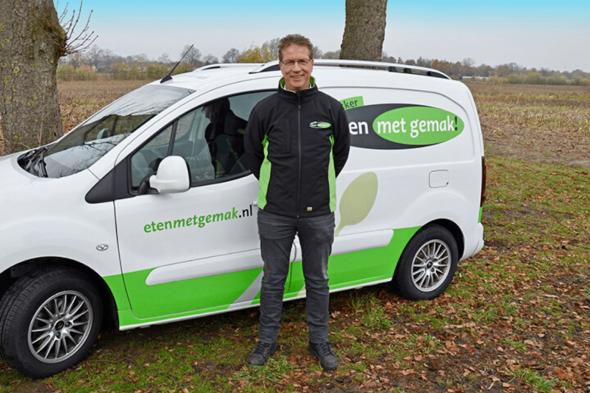 Ondernemer Ton Stam van Eten met Gemak maakt gebruik van het actieve koelconcept VebaBox voor het bezorgen van koelverse maaltijden!